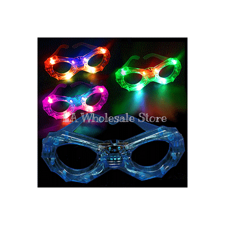 LA Wholesale Store 12 Flashing Spiders Web Glasses FREE Temporary Body (Best Spider Web Tattoos)