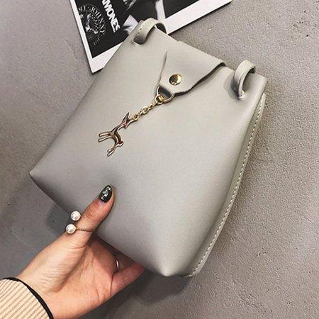 DeerWomen Handbag Solid Color Shoulder Bag Storage Bag with Adjustable Strap - image 4 de 8