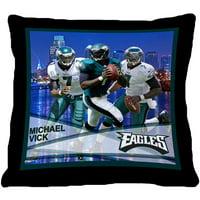 "Biggshots Philadelphia Eagles Mike Vick 18"" Toss Pillow"