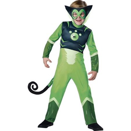 Wild Kratts Child Muscle Chest Costume Green Chris Kratt Spider - Monkey Costume For Kids