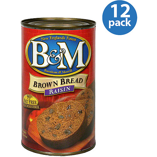 B&M Raisin Brown Bread, 16 oz, (Pack of 12)