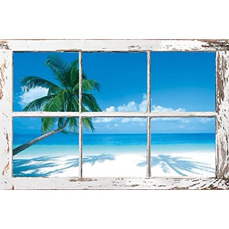Tropical Window Poster Print (34 x 22)..., By HUNTINGTON GRAPHICS Ship from (Huntington Hanging)