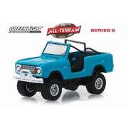 1967 Ford Bronco (Doors Removed), Light Blue - Greenlight 35130A/48 - 1/64 Scale Diecast Model Toy Car