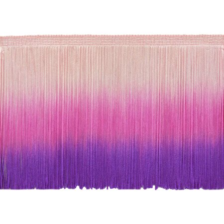 13.5 Yard Value Pack of 6 Inch Dip Dyed Chainette Fringe Trim, Style# CF06 Color: Tie Dye Pink - TDP (41 Feet / 12.5M)