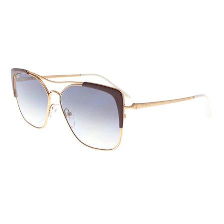 86cd9dd2458b Prada PR54VS 400409 ROSE GOLD/BORDEAUX Rectangle Sunglasses - Walmart.com