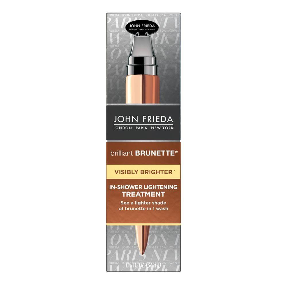 John Frieda Brilliant Brunette Visibly Brighter In-Shower Lightening Treatment 1.15 fl. oz. Box
