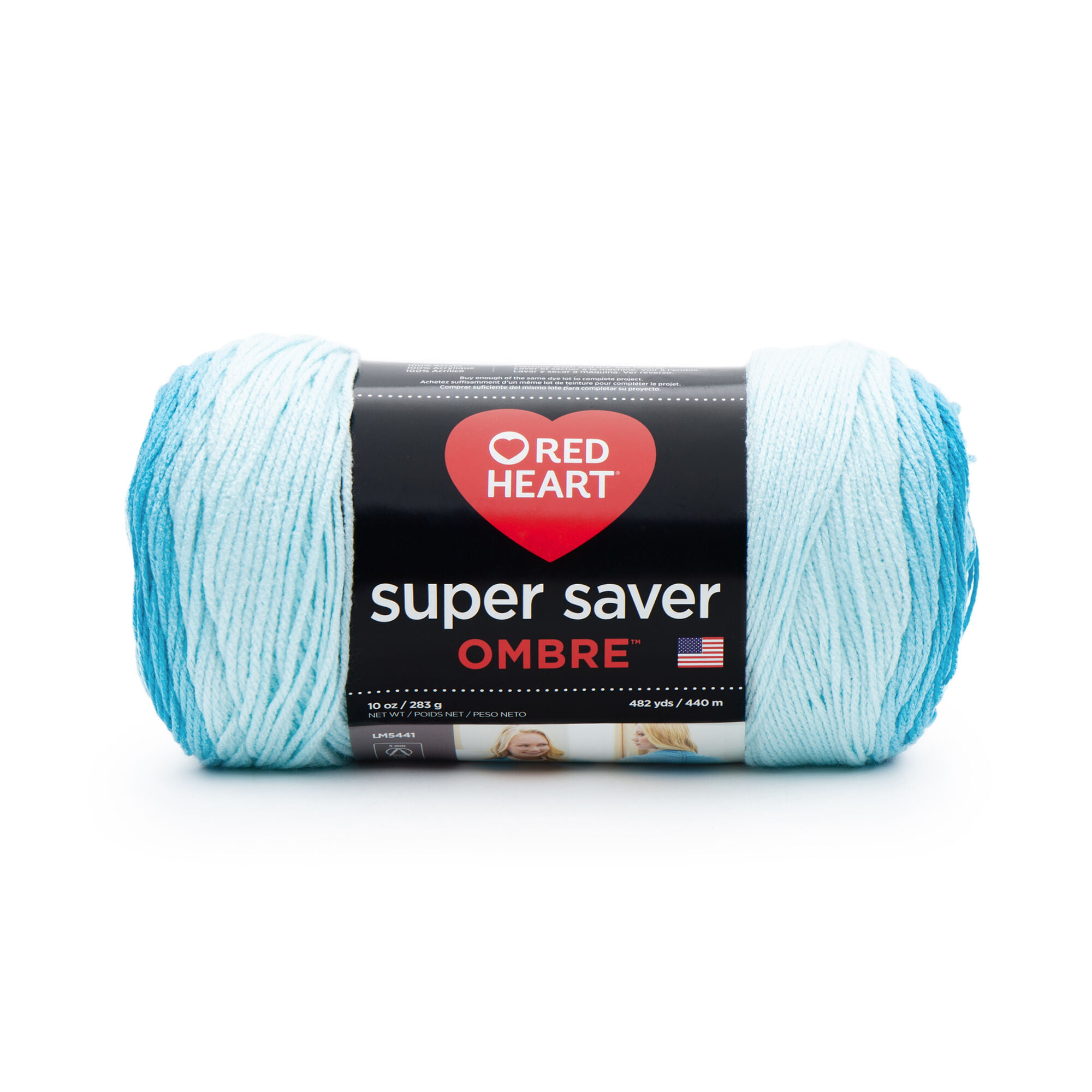 Red Heart Super Saver Ombre Yarn 10 oz DEEP Teal