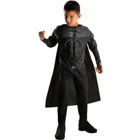 Child's Deluxe DC Comics Black Superman Man Of Steel Suit - Superman Returns Suit