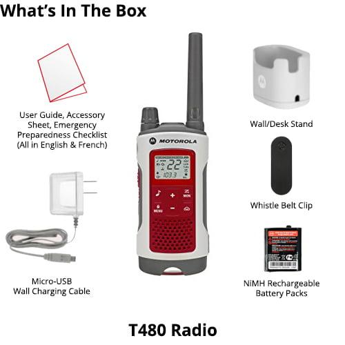 Motorola 35-Mile Talkabout T480 2-Way Radio