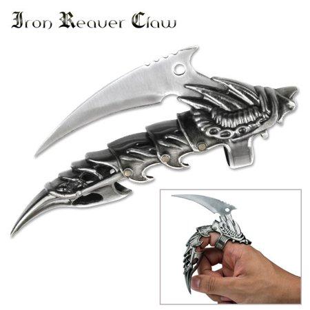 Dragon Samurai Knife - FINGER KNIFE | Silver Blade Cast Metal Armor Demon Dragon Reaver Claw MC-1026