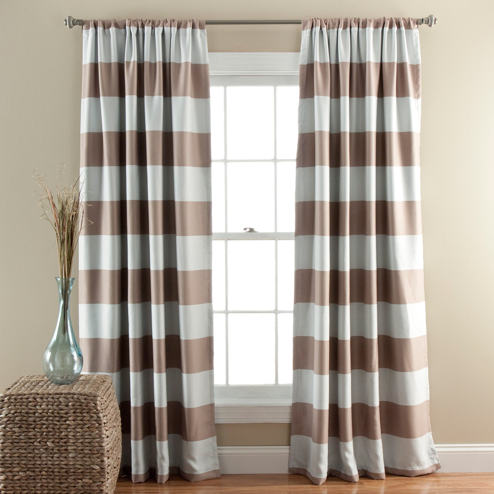 rod fashion fashionable curtains print stripe from spot stylish amazon foil voile sheer deconovo wave best for sale buy blackout striped white home top pocket
