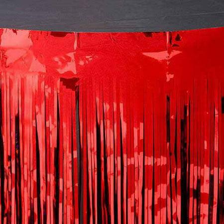 Metallic Table Skirt Red](Metallic Table Skirt)