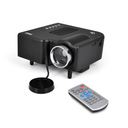 PYLE PRJG48 - Mini Compact Pocket Projector, 1080p Support, USB/SD Card Readers, HDMI & VGA Inputs, Upside-Down (Best V7 Mini Projectors)