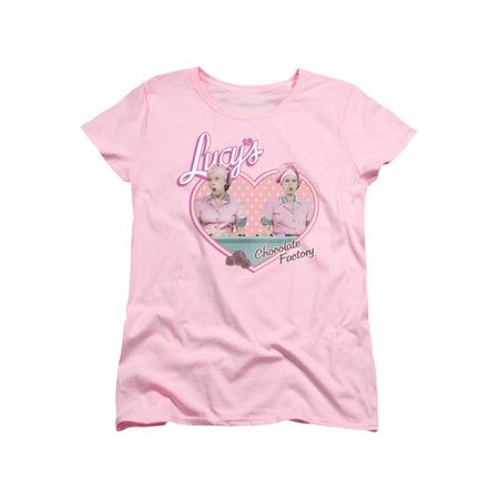 I Love Lucy Chocolate Factory - I Love Lucy 50's TV Series Chocolate Factory Women's T-Shirt Tee