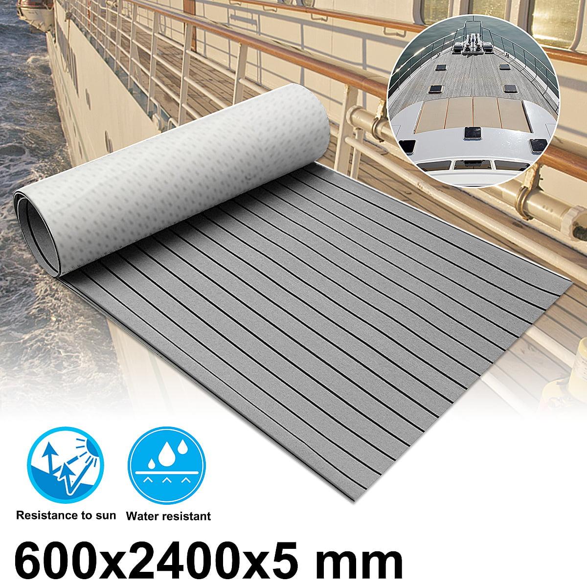 95''x24'' Marine Boat Flooring EVA Foam Synthetic Teak Decking Sheet Carpet Pad