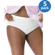 Just My Size Cotton Brief Panties 5 Pack