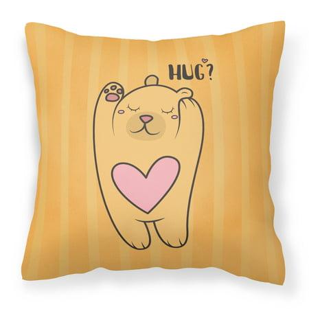 (Nursery Hug Bear Fabric Decorative Pillow BB7470PW1414)