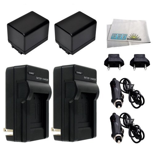2 Replacement BP-727 Battery Packs for Canon VIXIA HF R30, HF R32, HF R300, HF M50, HF M52, HF M500, HF R40, HF R42, HF R400 Camcorders Includes: 2 Replacement BP727 Battery Packs + Rapid Travel Charg