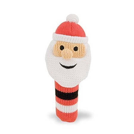 "Rich Frog K'Nit Squeak Easy Holiday Santa Baby Squeaky Toy, Multi-Color Cotton Knit Toy For Baby, 5.5"" - image 1 of 1"