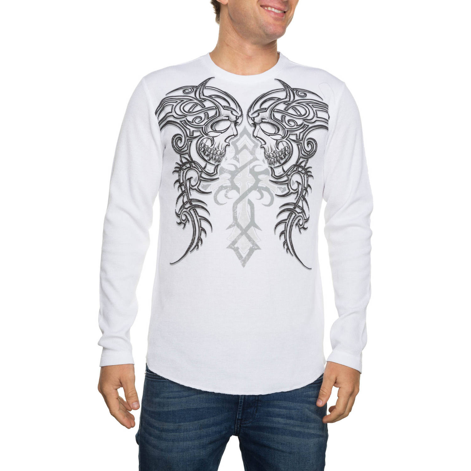 Faded Glory Men's Long Sleeve Tribal Leaders Graphic Thermal