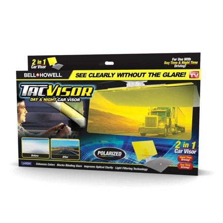Bell + Howell Tac Visor Day & Night Polarized Anti-Glare Car Visor - As Seen on TV!