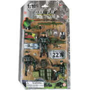 Click N' Play Military Ranger Action Figure 18 Piece Accessory Play Set