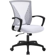 Office Chair Ergonomic Desk Chair Mesh Computer Chair with Lumbar Support Armrest Mid Back Rolling Swivel Adjustable Task Chair (Green)