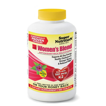 SuperNutrition Women?s Blend Multivitamin Tablets, 180 Ct