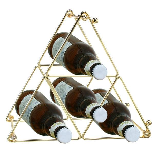 4 Bottle Metal Wine Rack Countertop Wine Bottle Storage Holder With Pyramid Design For Home Kitchen Wine Bottles Storage 10 8 W X 7 D X 9 4 H Walmart Com Walmart Com