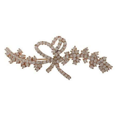 Dlux Jewels Broche et broche en argent sterling plaqu- rose avec zircones cubiques - image 1 de 1
