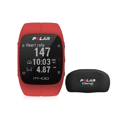 Polar M400 Running Fitness Watch With GPS And HRM - Red