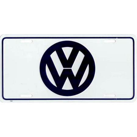 Volkswagen Logo Metal License