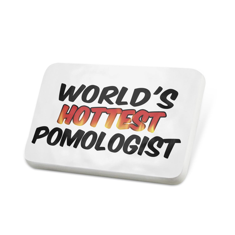 Porcelein Pin Worlds hottest Pomologist Lapel Badge – NEONBLOND