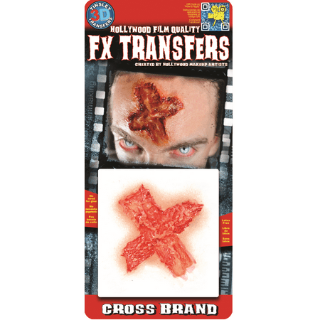 Tinsley Transfer Halloween Costume Makeup Cross Brand FX 3D Temporary Tattoo](Temporary Halloween Stores)