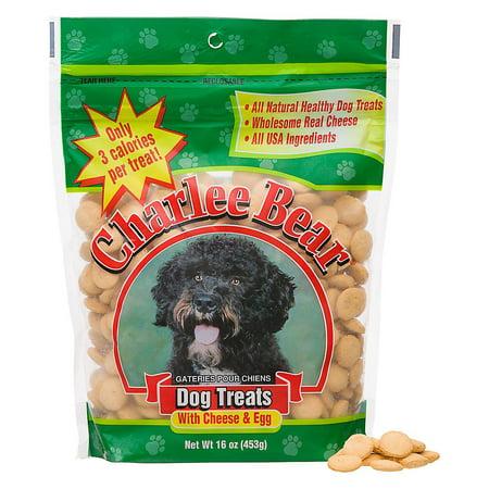 Charlee Bear Dog Treat with Cheese & Egg