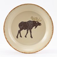 Rustic Retreat Salad Plate Set - Moose