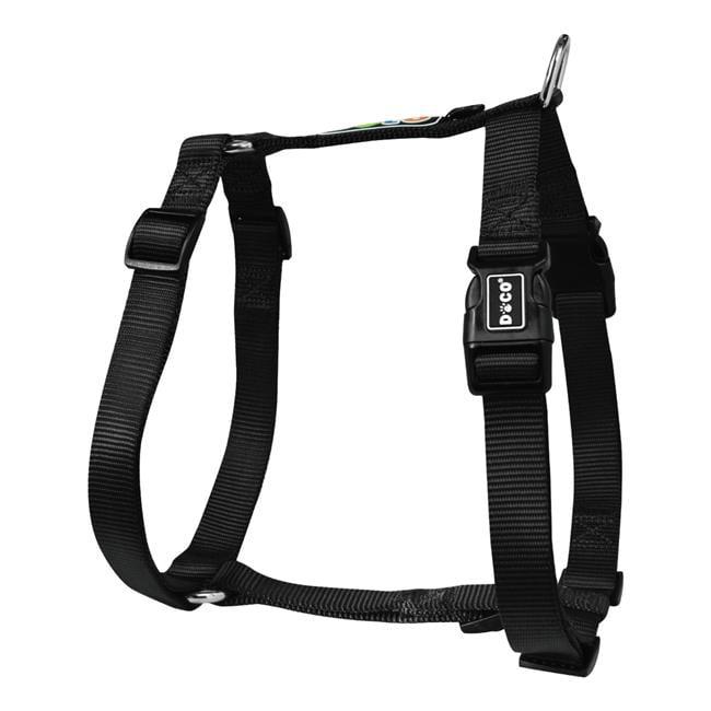 Doco DCSN202-01XS Signature Nylon Step-In Harness Leash, Black - Extra Small