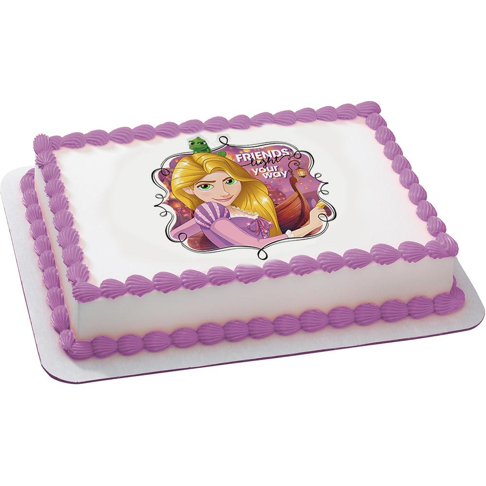 Tangled Rapunzel Quarter Sheet Edible Cake Topper Each Walmart
