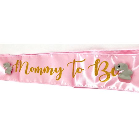 Pink Baby Shower Elephant Mommy to Be Sash Favor Keepsake (Elephant Party Favors)