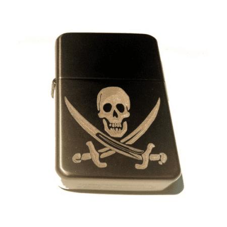 Vector KGM Thunderbird Custom Lighter - Jolly Rogers Pirate Swords Skull Logo GUN Metal Satin Polish Chrome Rare!