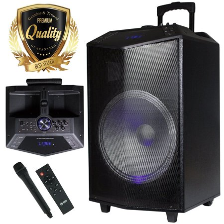 PKL105 1500W 15 inch Power Party Bluetooth / USB / Rechargeable Portable