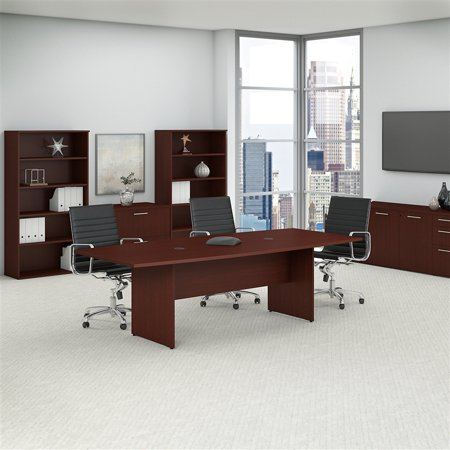 Bush Business 96W x 42D Boat Shaped Conference Table in Harvest Cherry - image 1 de 7