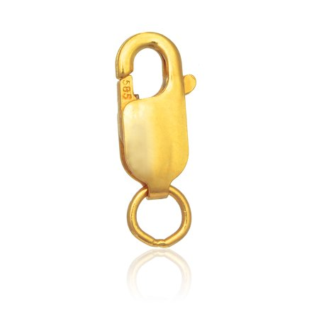 - 10k Yellow Gold Lobster Claw Clasp Lock 10mm