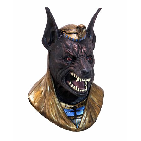 Adult Size Anubis Egyptian God Full Over The Head Latex Halloween Costume Mask - Egyptian Jackal Mask