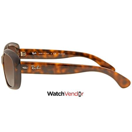 4b58063eeb Ray Ban Jackie Ohh Brown Gradient Rectangular Ladies Sunglasses RB4101  710 T5 58 - image ...