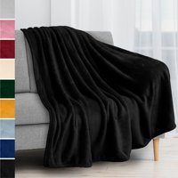 PAVILIA Fleece Blanket Throw | Super Soft, Plush, Luxury Flannel Throw | Lightweight Microfiber Blanket for Sofa Couch Bed (Black, 50x60 inches)