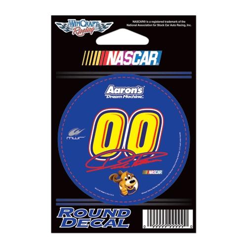 David Reutimann Official NASCAR 3 inch Round Vinyl Car Decal by WinCraft