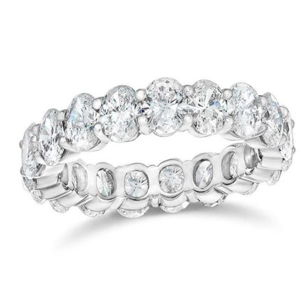 Harry Chad Enterprises 34770 8 CT Prong Set Oval Cut Diamond Gold Womens Eternity Band - image 1 of 1