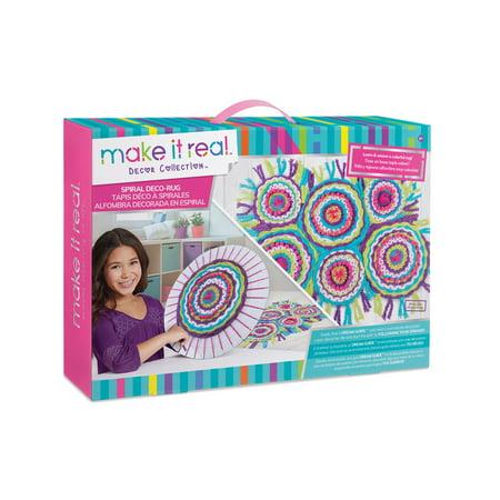 Spiral Deco-Rug Kids Craft Kit - Winter Crafts For Kids