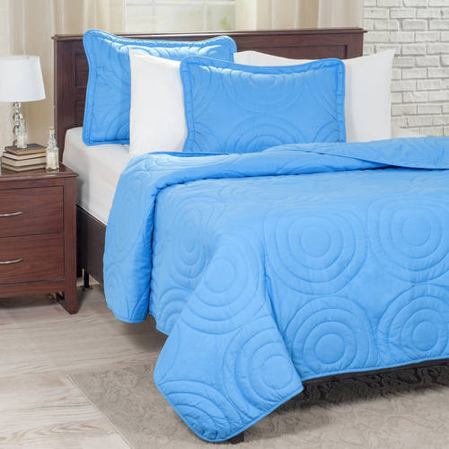 Somerset Home Solid Embossed Piece Quilt Set